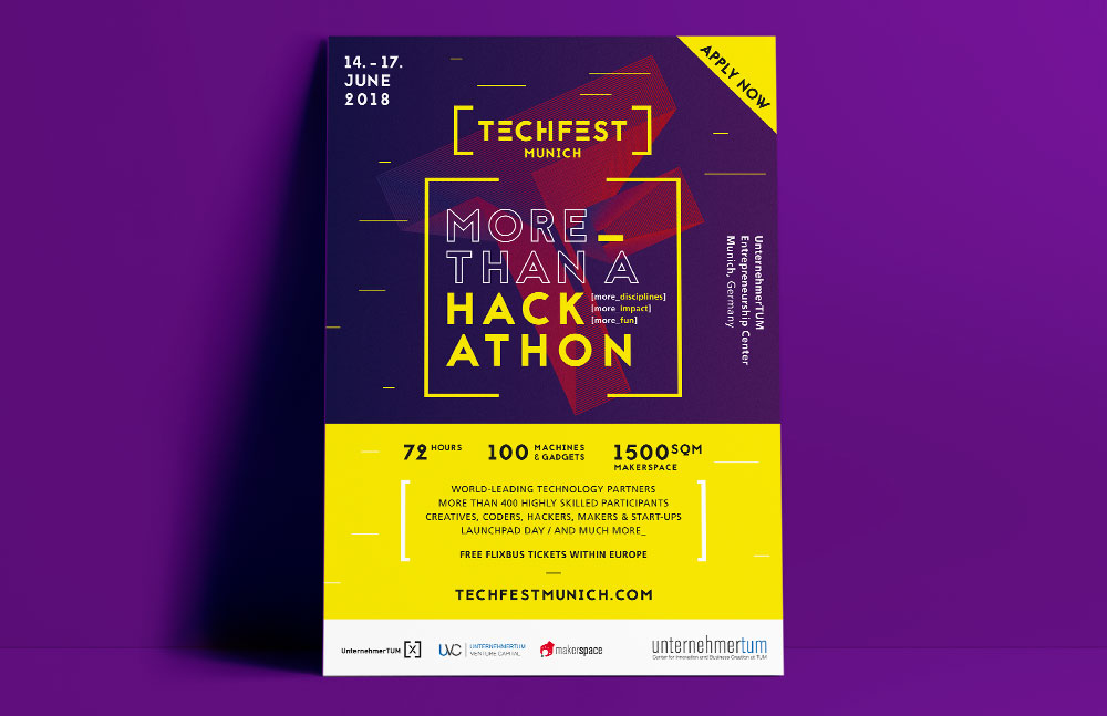 Techfest Munich, Corporate Design, Grafikdesign, Veranstaltung, Branding